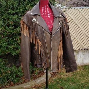 Other - Vintage Harley Davidson brown leather jacket